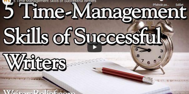 5 zvyků time-managementu pro úspěšné psaní